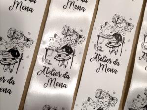 etiquetas personalizadas com logotipo para peças de roupa e artesanato